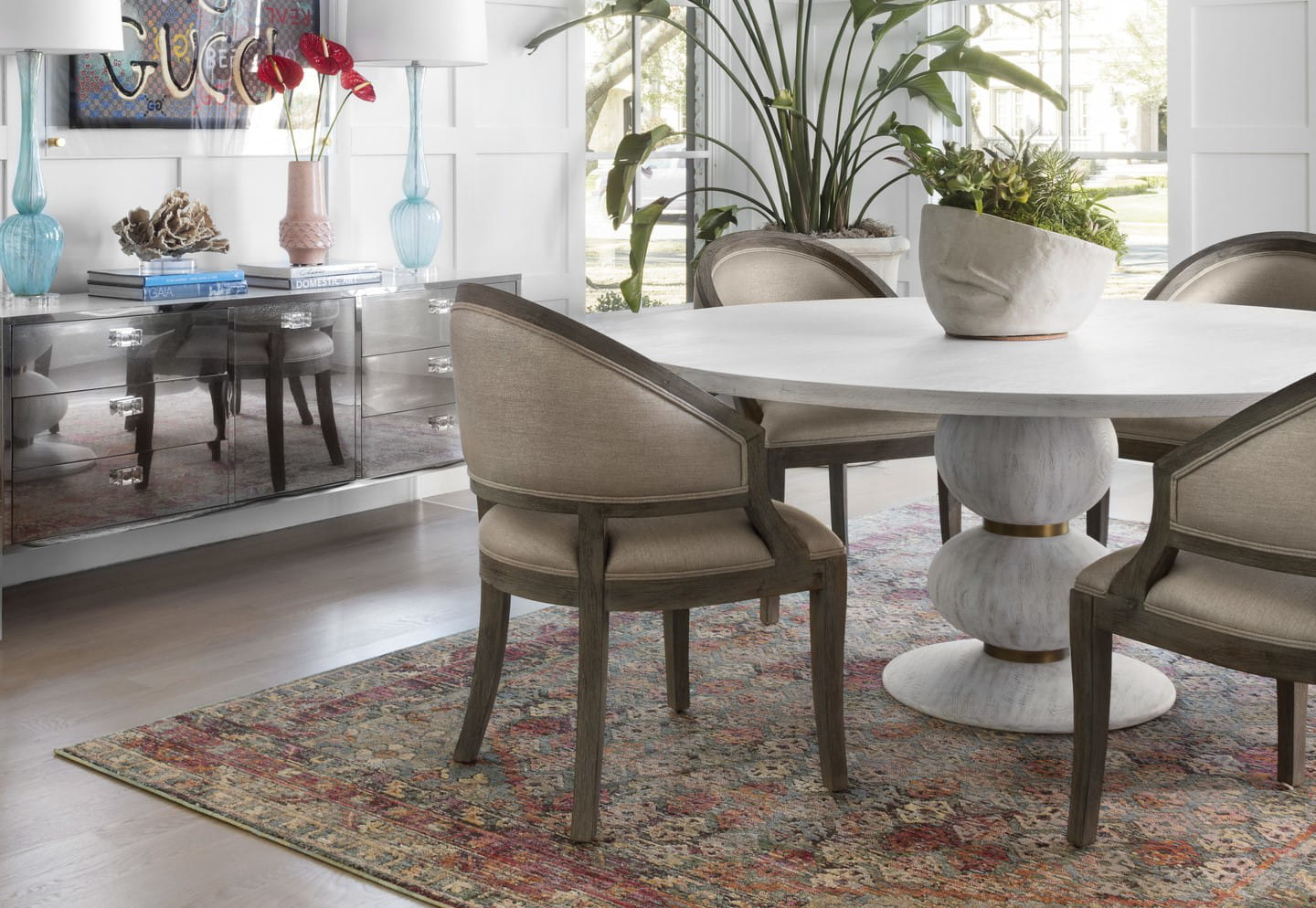 standard rug size for dining room table