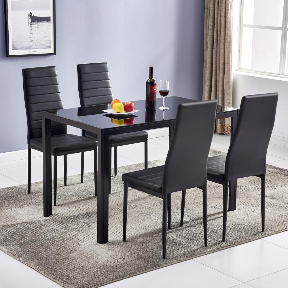 dining set leather chairs