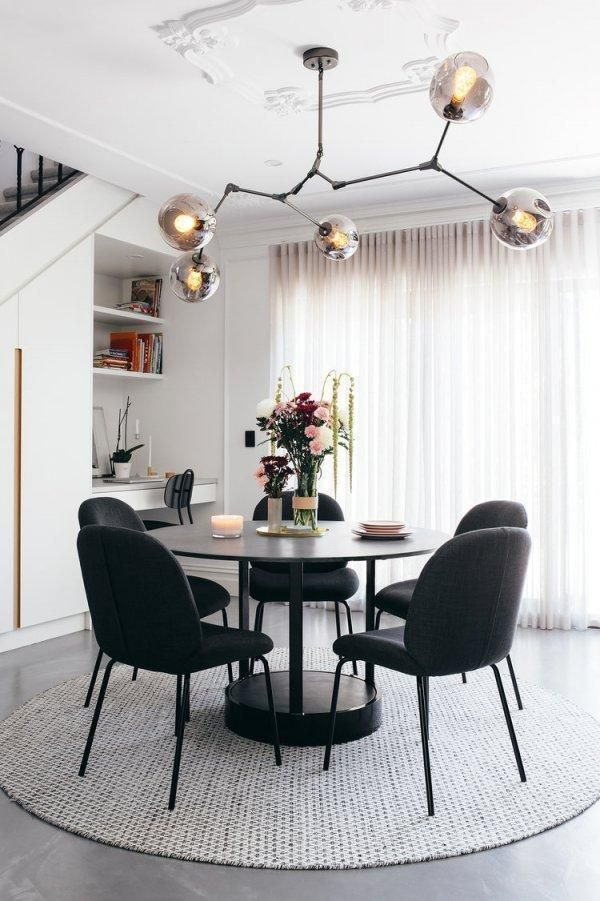 oval black glass dining table