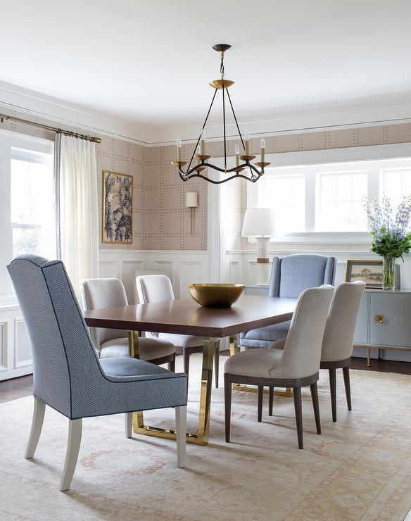 dining room tables with mixed chairs