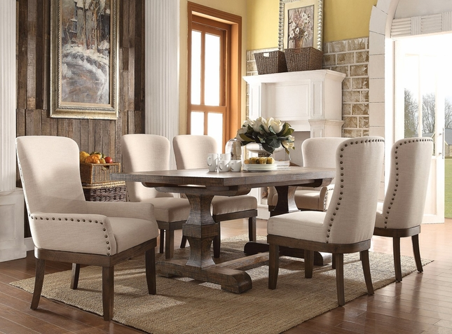 rustic distressed dining table