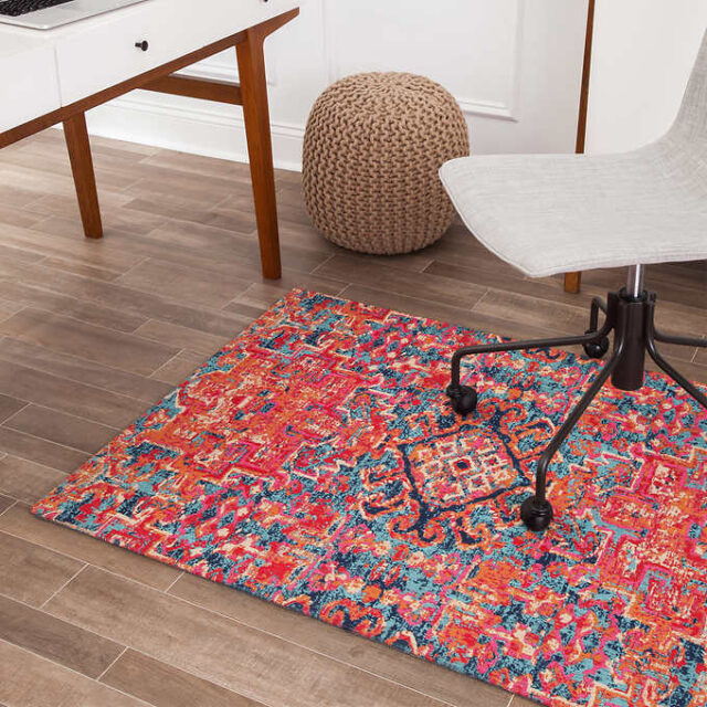 mat for office chair on wood floor