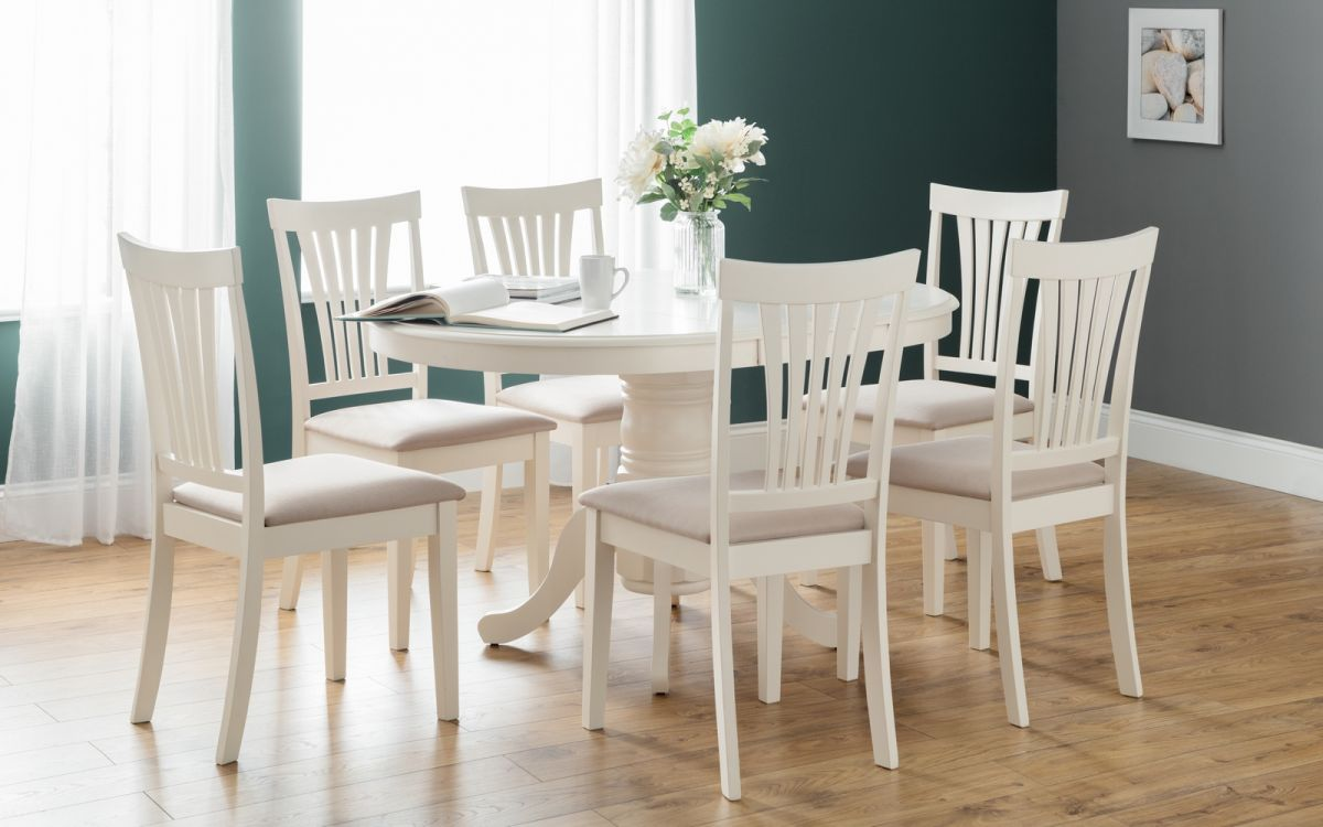 round dining table extends to oval
