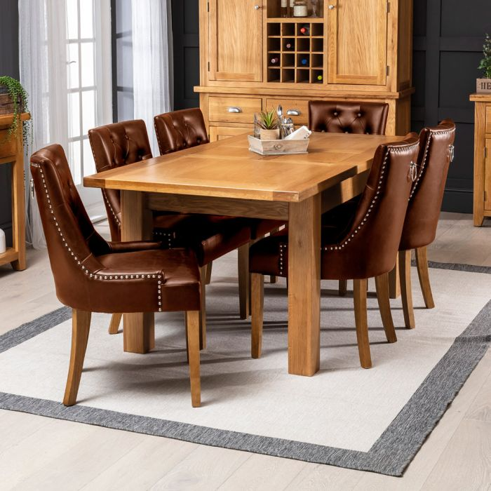natural oak dining chairs