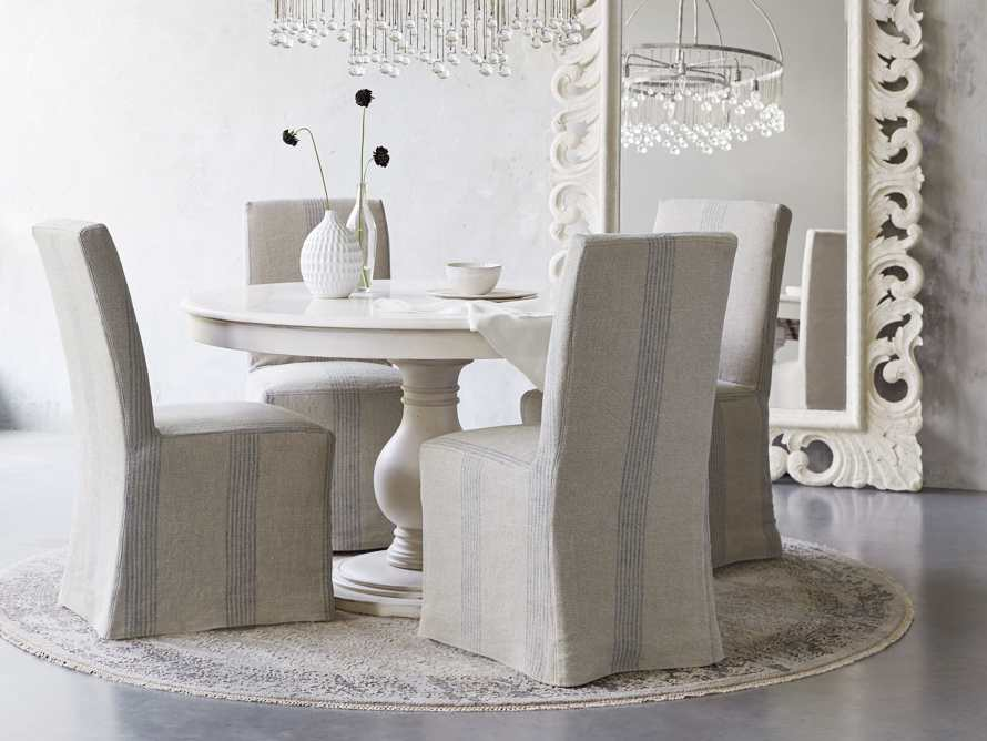outdoor slipcovered dining chairs
