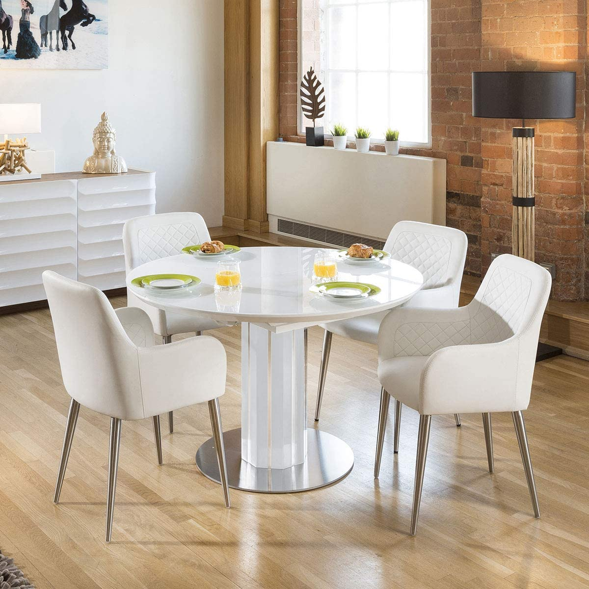 round extendable glass dining table