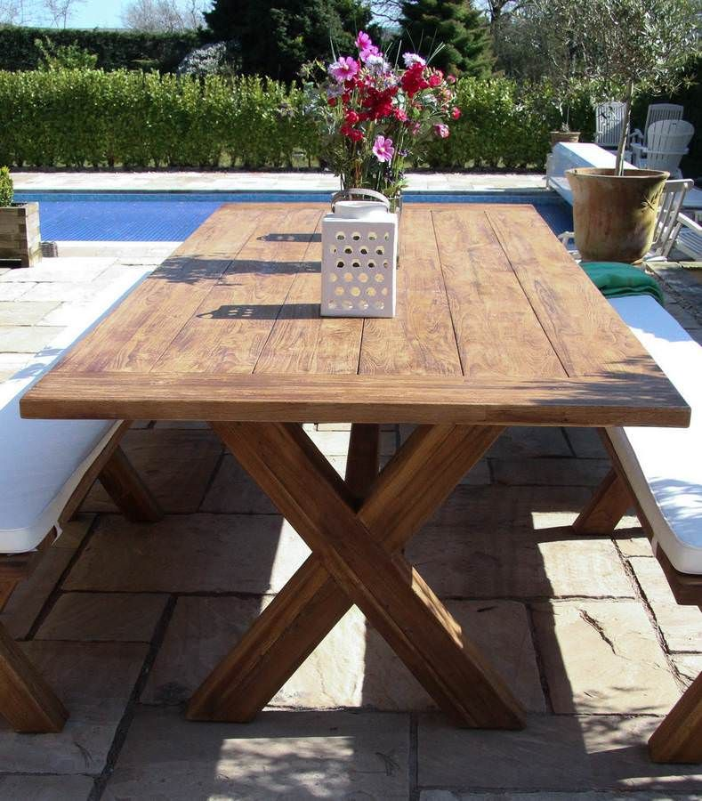 reclaimed outdoor dining table