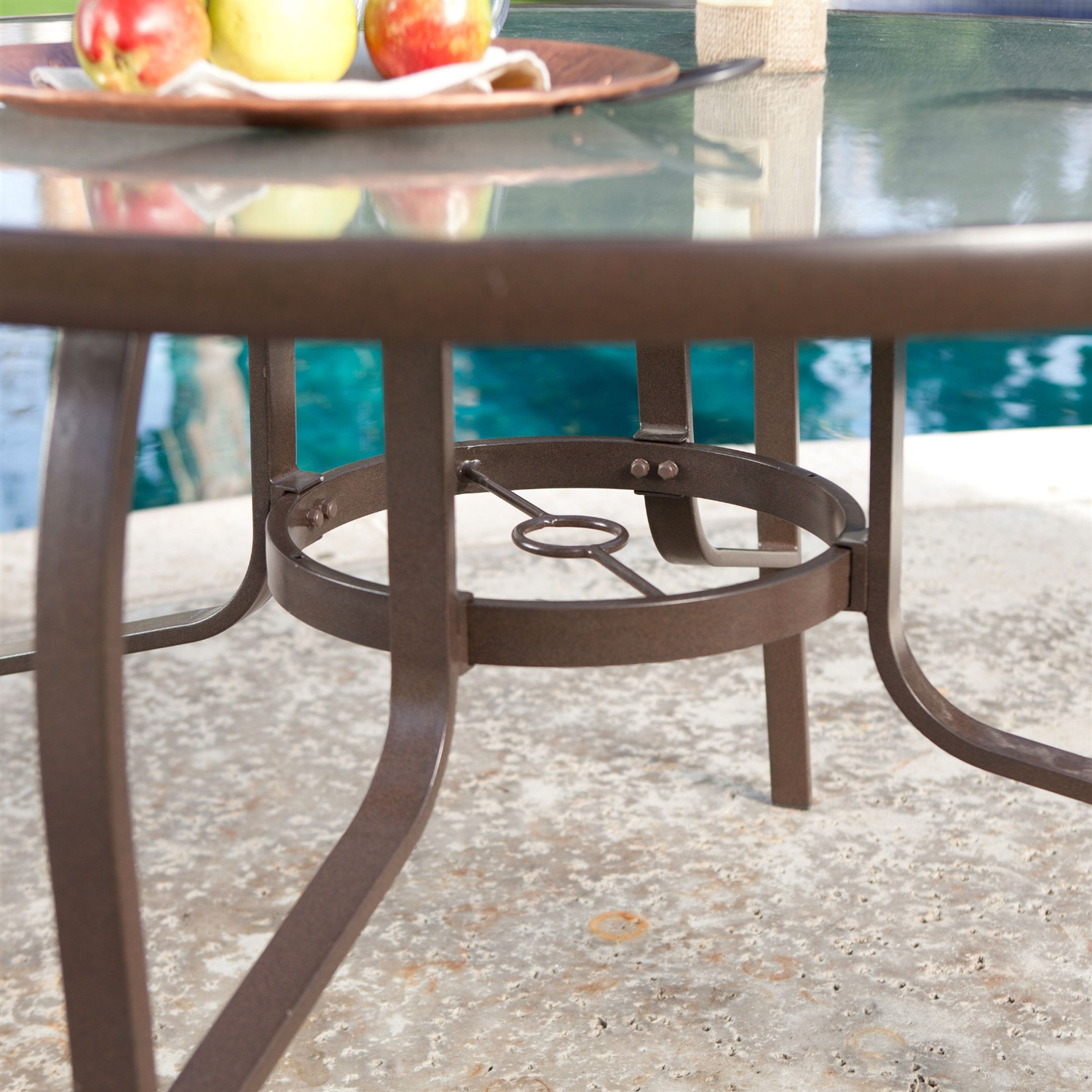 48 inch round glass top dining table