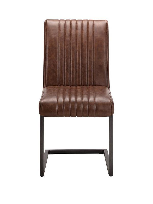 leather and iron dining chairs