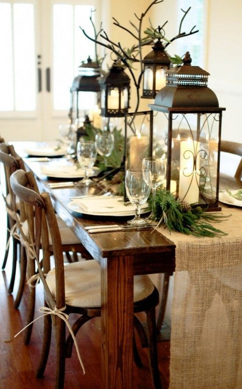 dining room table decorating