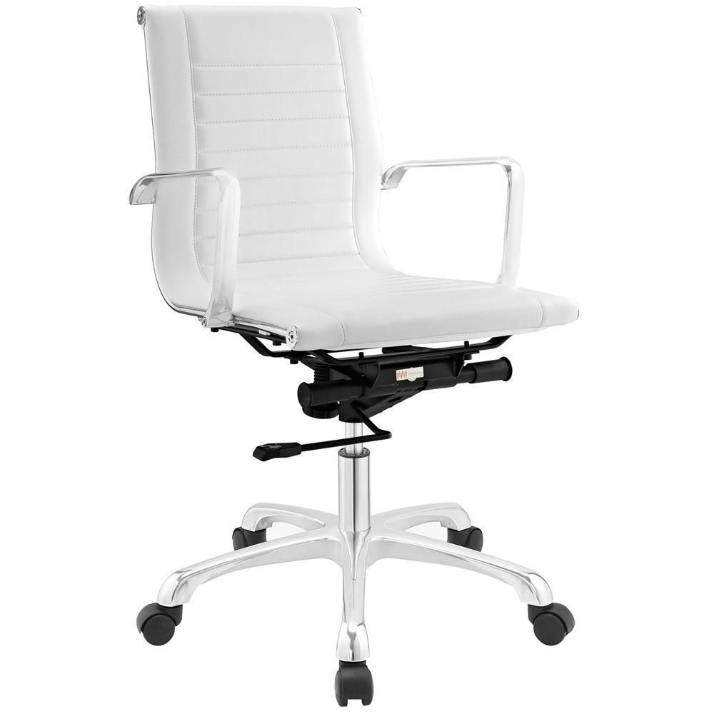 modway white office chair
