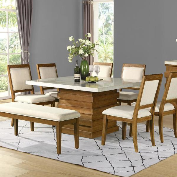marble wood dining table