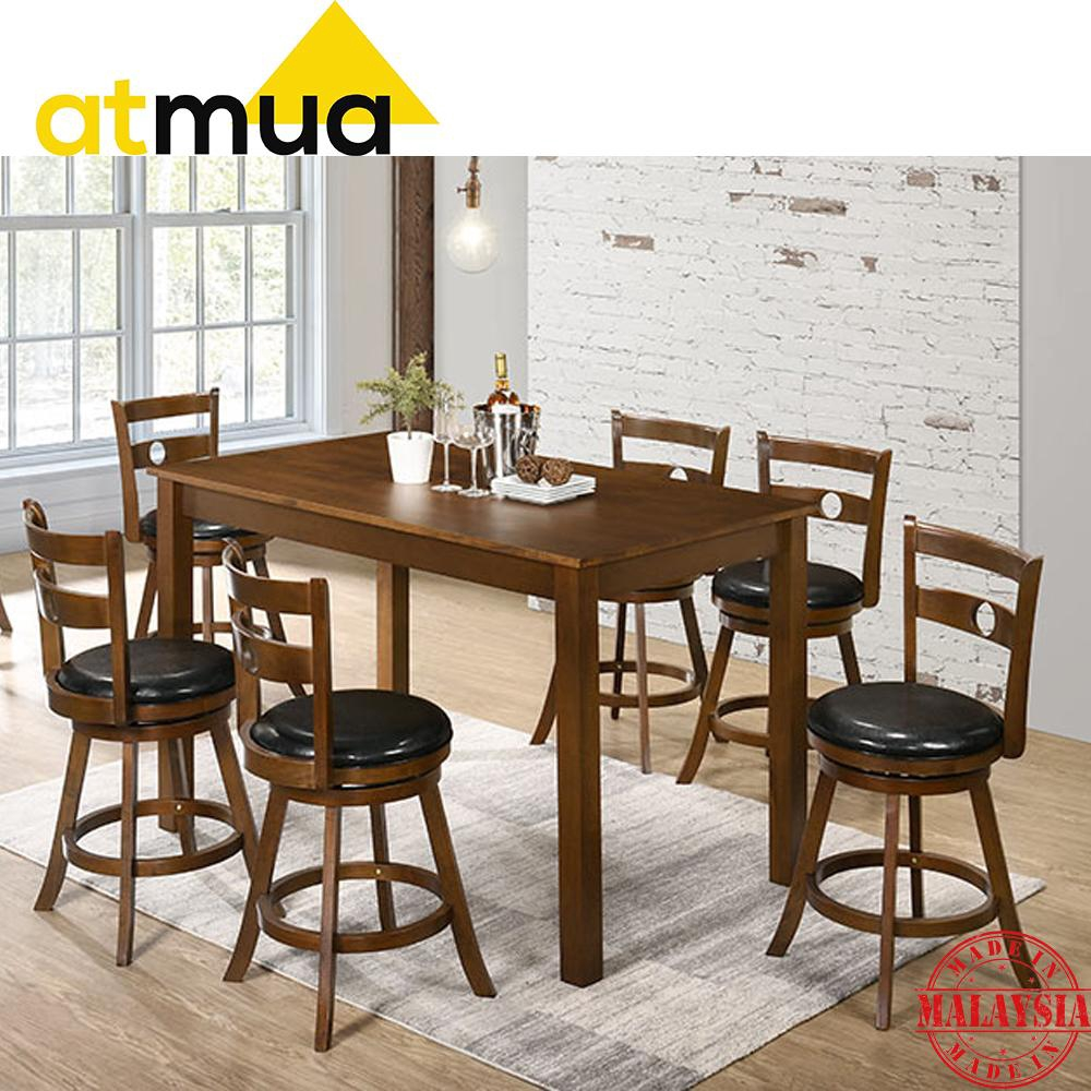 dining room table with swivel chairs